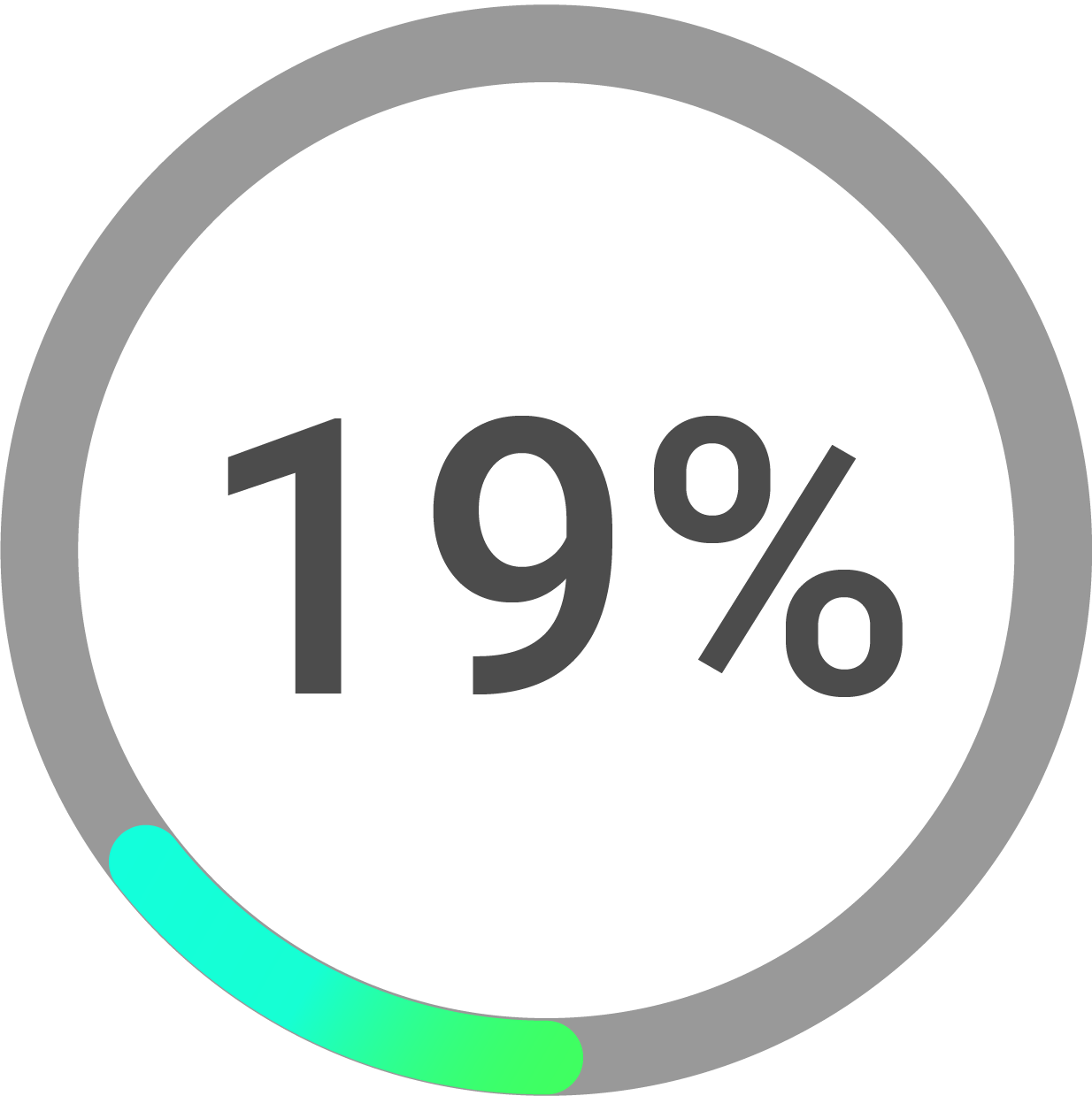 Circle progress icon percentage 19