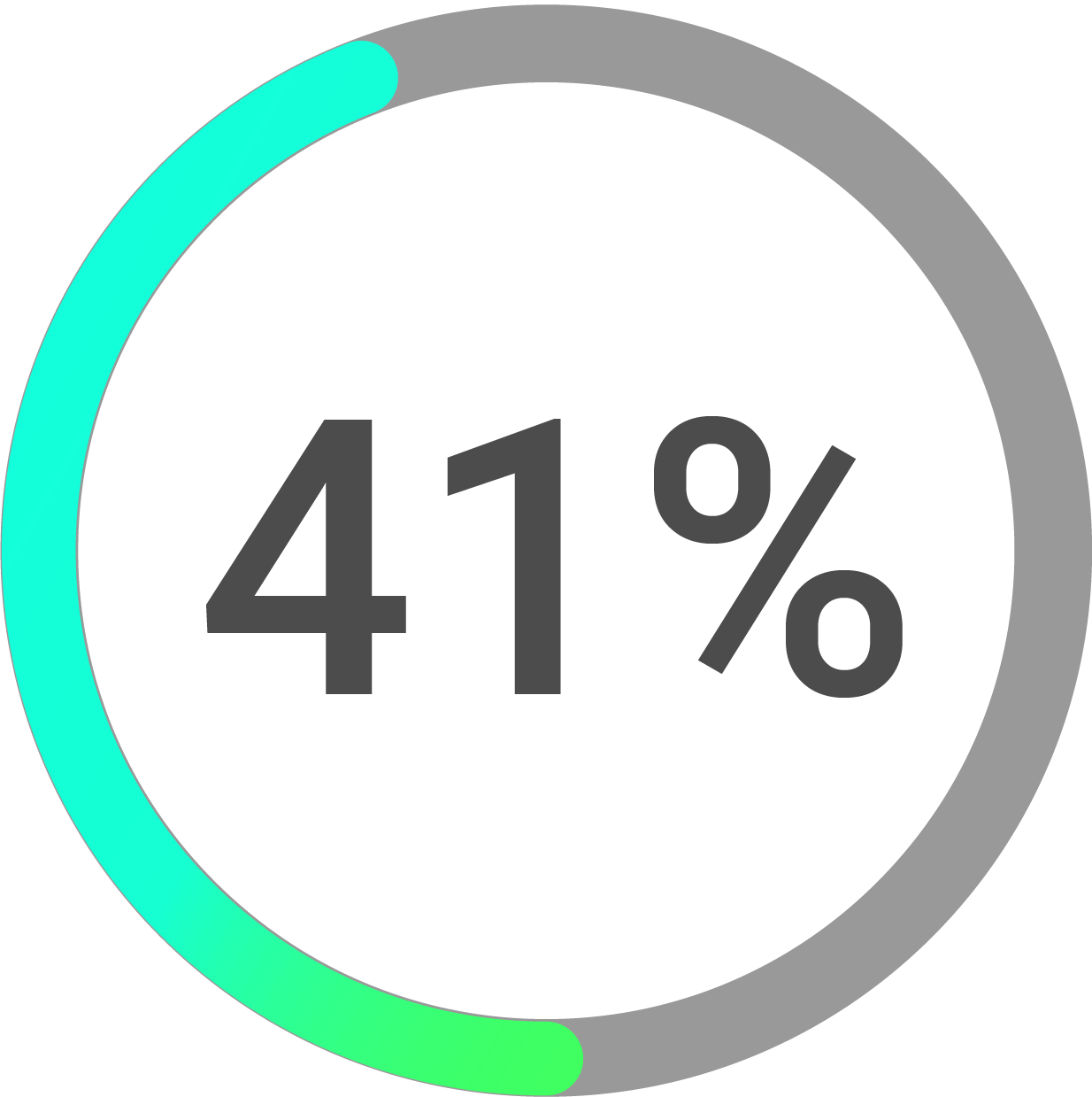 Circle progress icon percentage 41%