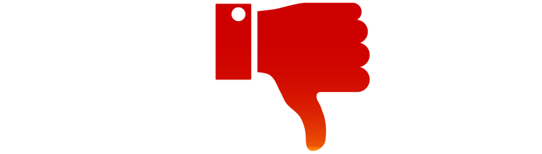 Thumbs Down Icon Gradient Orange and Red