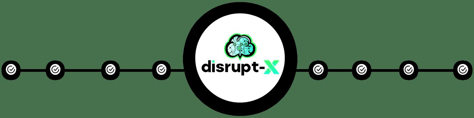 Disrupt-X Logo Circle Divider