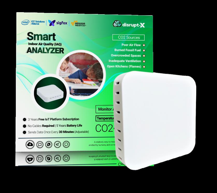 Smart Air Analyzer- CO2 IoT Device with BOX