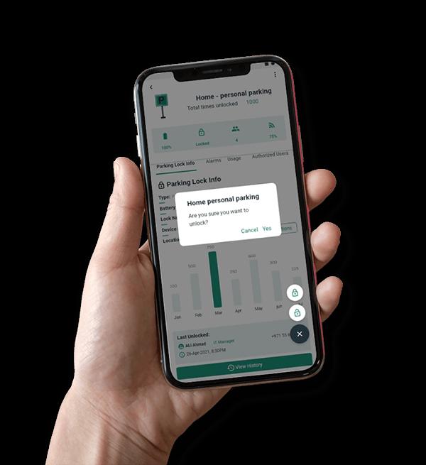 Mobile Application- Disrupt-X IoT Platform Solution-Parking